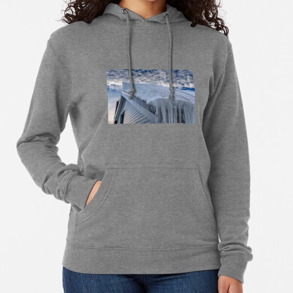 Snow covered roof at Mt Hotham Lightweight Hoodie