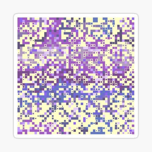 Vanilla ice cream with pink and purple halftone sprinkles Sticker