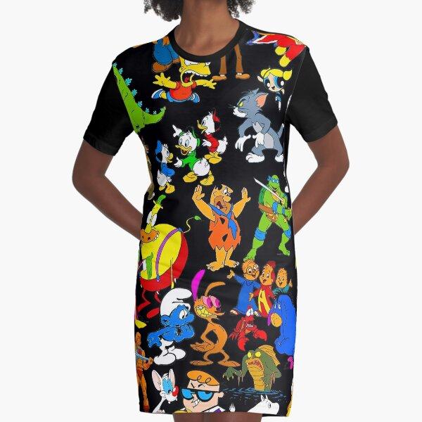 cartoon nostalgia Graphic T-Shirt Dress