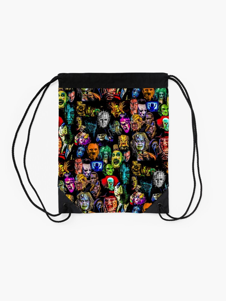Alternate view of horror collection  Drawstring Bag