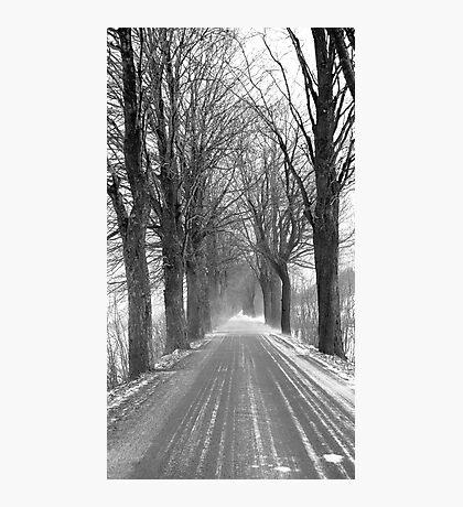 Winter road, Jizera mountains, Czech Republic Photographic Print