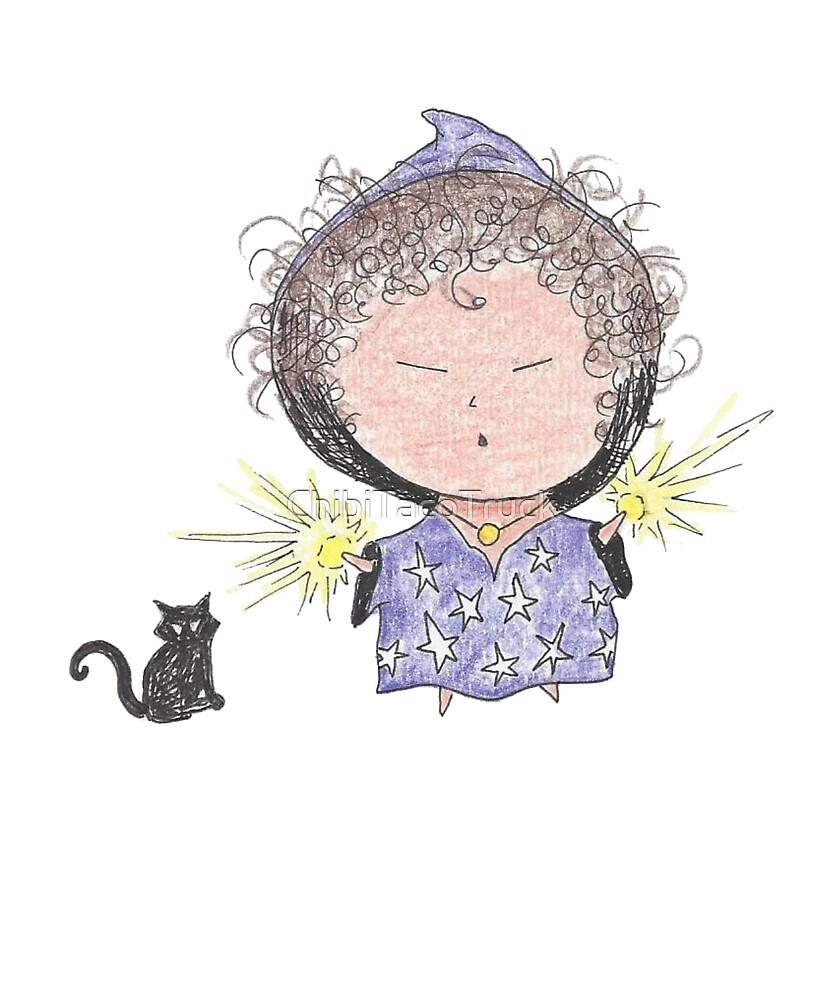 Chibi Wizard with Black Cat by ChibiTacoTruck