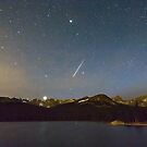 Perseid Meteor Shower Indian Peaks by Bo Insogna