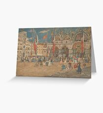 The Piazza San Marco 1898 Maurice Brazil Prendergast Greeting Card