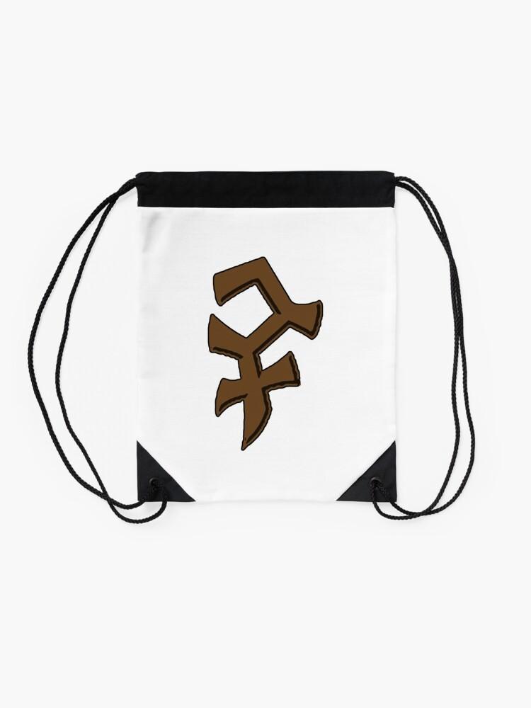 Alternate view of Bandos Symbol - Color, no words Drawstring Bag