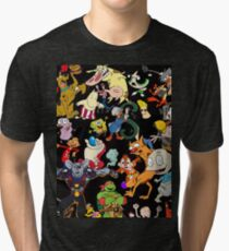 Retro Cartoons rugrats 80s 90s tv show cartoon rockos life Tri-blend T-Shirt