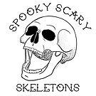 Spooky Scary Skelette - Weiß von retr0babe