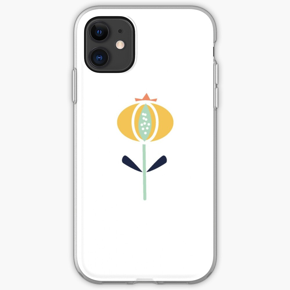 Stylised Poppy iPhone Soft Case