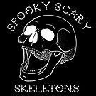 Spooky Scary Skelette - Schwarz von retr0babe
