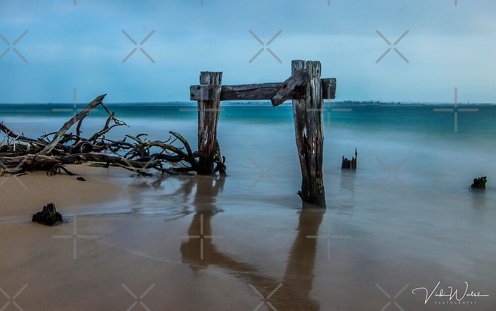 The Cattle Jetty, Observation Point, Point Nepean, Portsea, Mornington Peninsula, Victoria, Australia. by VickiWalsh