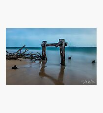 The Cattle Jetty, Observation Point, Point Nepean, Portsea, Mornington Peninsula, Victoria, Australia. Photographic Print