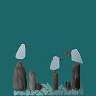 Sea Glass Seagulls by TerrorTrolls