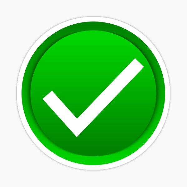 Marca de verificación verde Pegatina