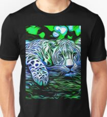 leopard print high quality trippy nature wild life big cats psychedelic graffiti Unisex T-Shirt