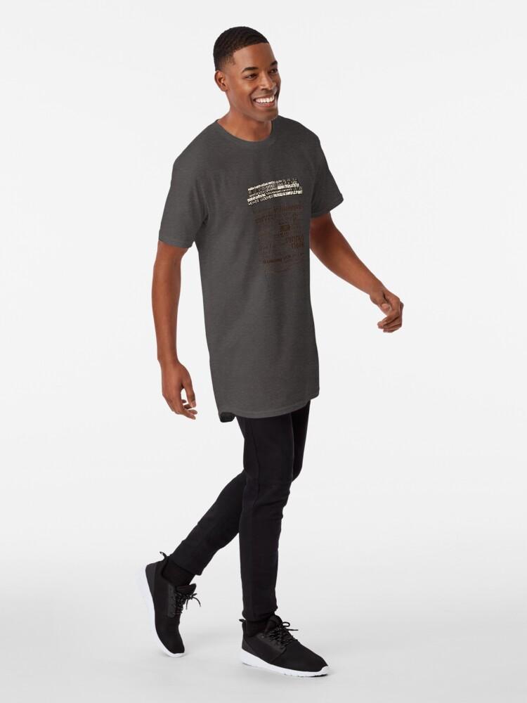 Alternate view of Dallas Coffee Shops Long T-Shirt