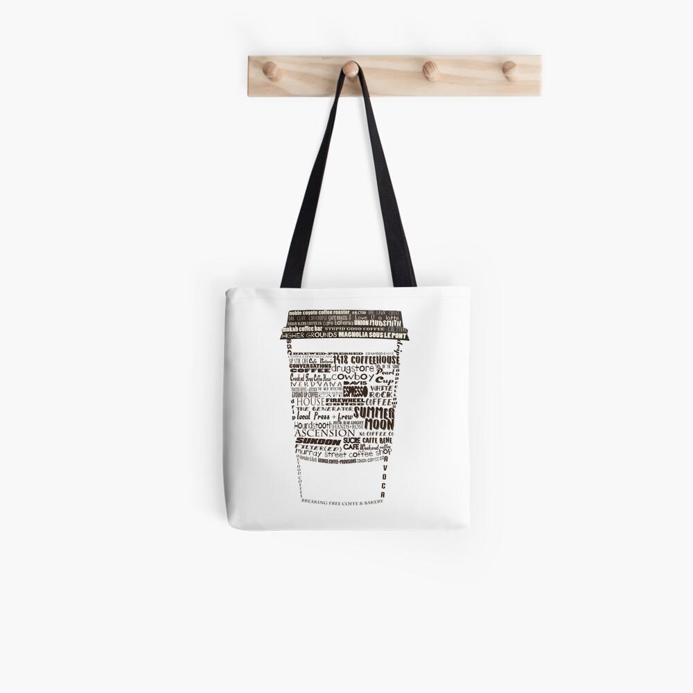 Dallas Coffee Shops Tote Bag