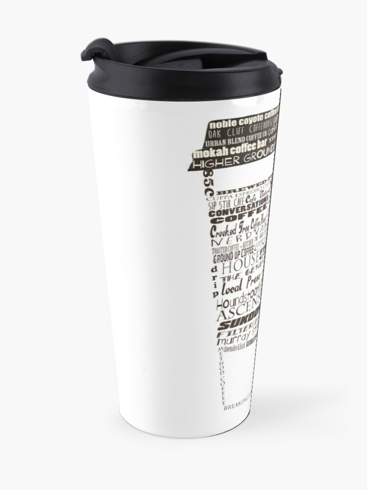 Alternate view of Dallas Coffee Shops Travel Mug