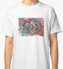 Fish on colorful abstract background Classic T-Shirt
