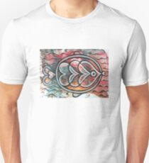 Fish on colorful abstract background T-Shirt