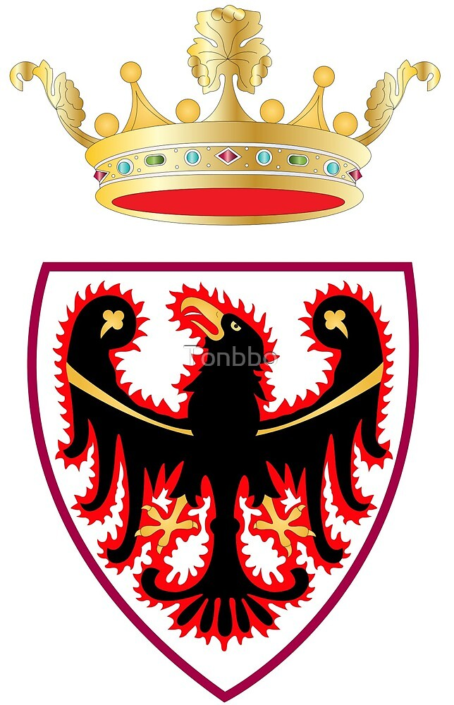 Trentino Coat of Arms, Italy by Tonbbo