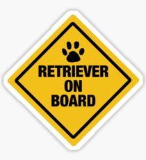 Retriever on Board Sticker
