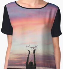 Soft Candy Sunset Women's Chiffon Top