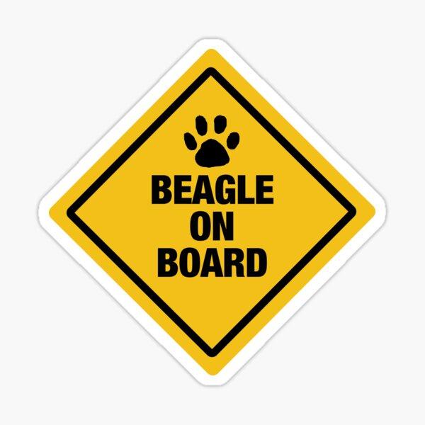 Beagle on Board Sticker