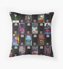 Horror VHS Tapes Throw Pillow