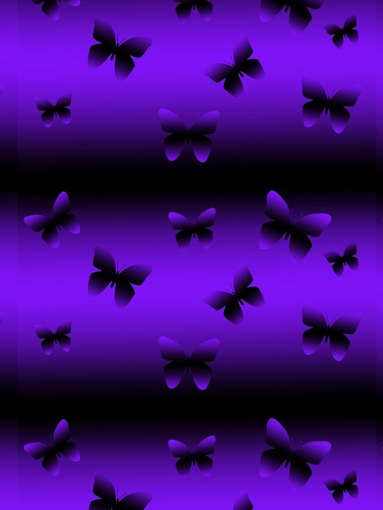 Purple and Black butterflies by Kezzarama
