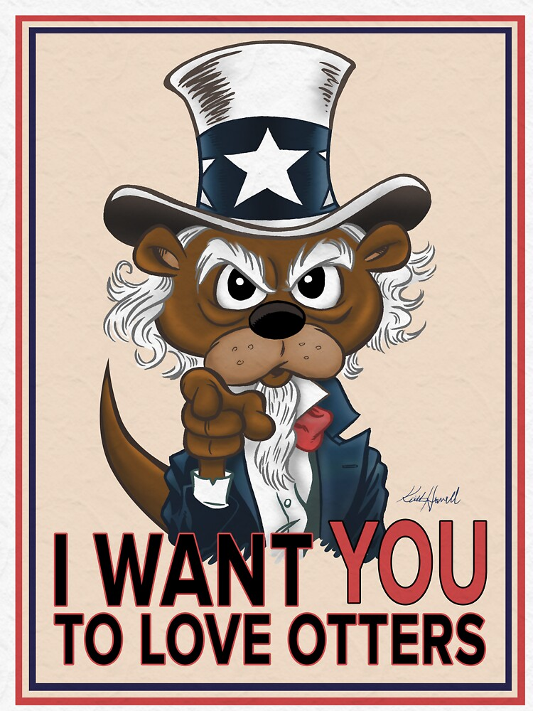 OTTER SAM SAYS I WANT YOU TO LOVE OTTERS by ProfChallenger