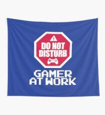 Gamer At Work Wall Tapestry