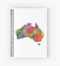 Australia Map 4 Spiral Notebook