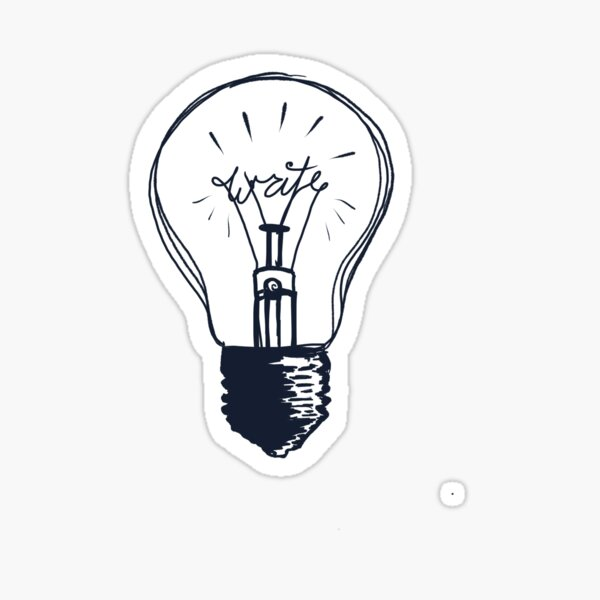 The Write Light Sticker