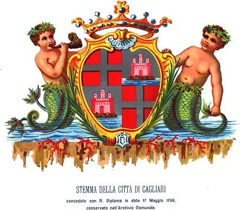 Cagliari Coat of Arms, Sardinia (Italy) by Tonbbo