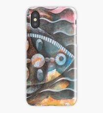 Fish on colorful abstract background iPhone Case