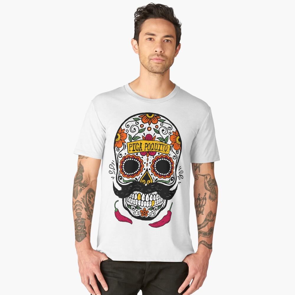 CALAVERA BIGOTONA CHILE PICA POQUITO Men's Premium T-Shirt Front