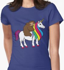 Cute Unicorn Sloth Rainbow Shirt For Girls Women T-Shirt