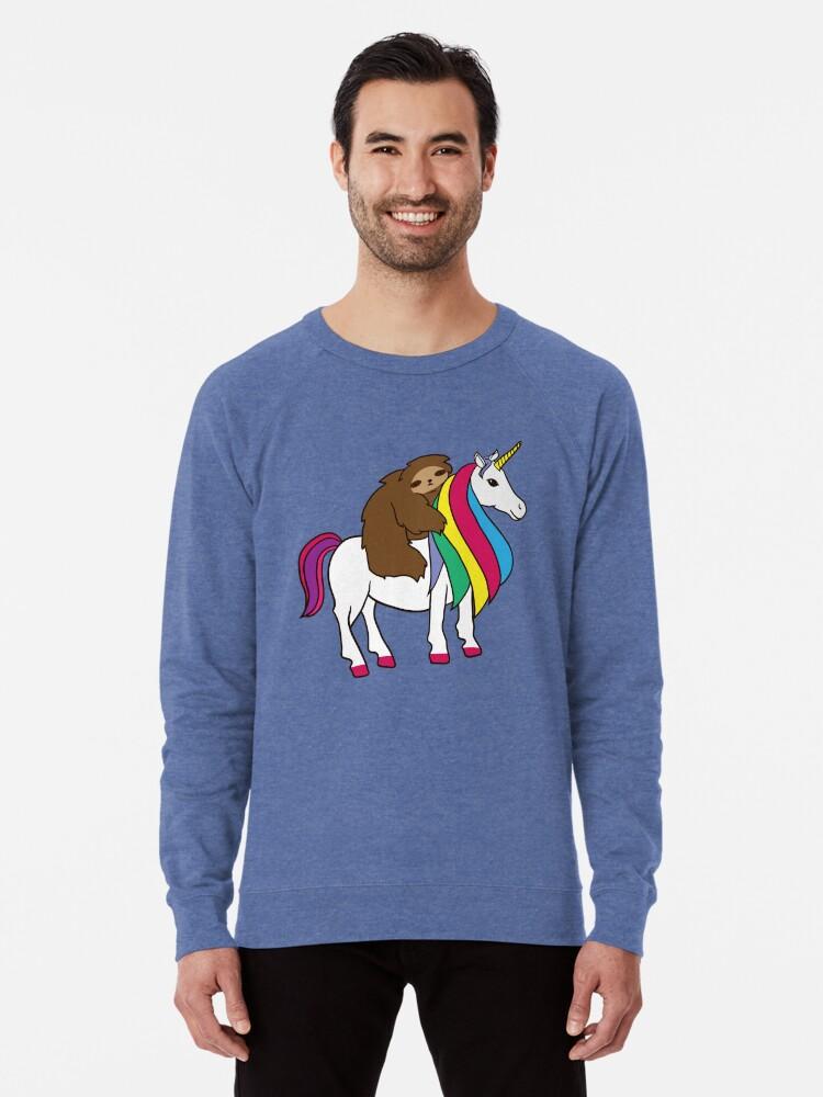 Cute Unicorn Mens Raglan Sleeve Hoodie Cartoon Mens Raglan Hoodie