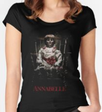 Annabelle the Haunted Doll Women's Fitted Scoop T-Shirt