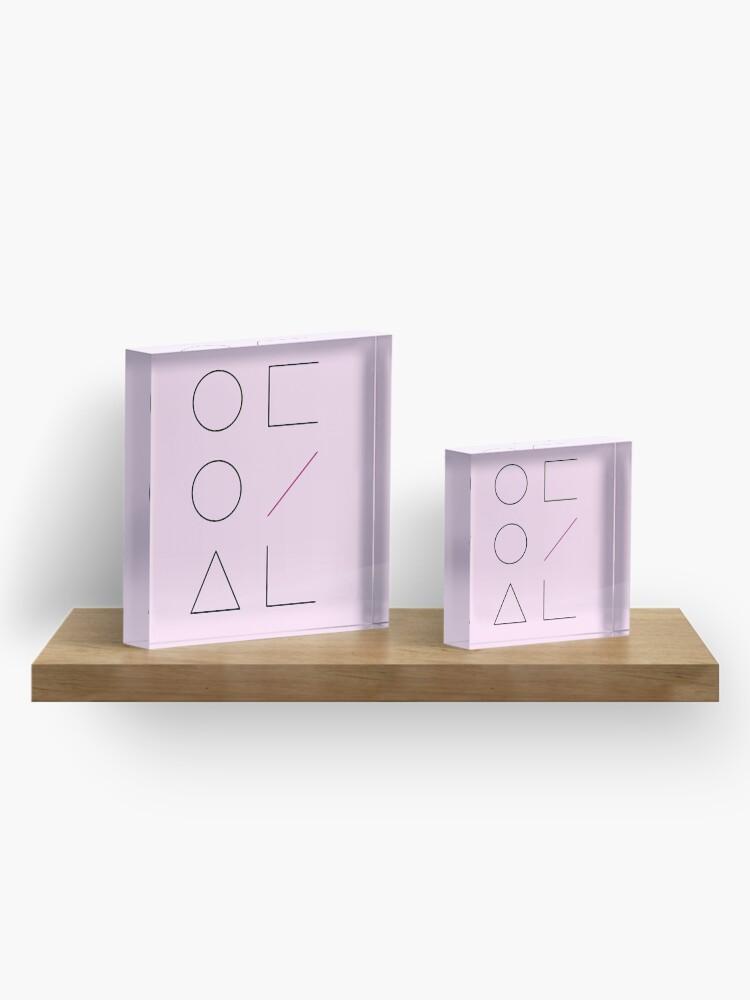 Alternative Ansicht von LOONA Logo Acrylblock
