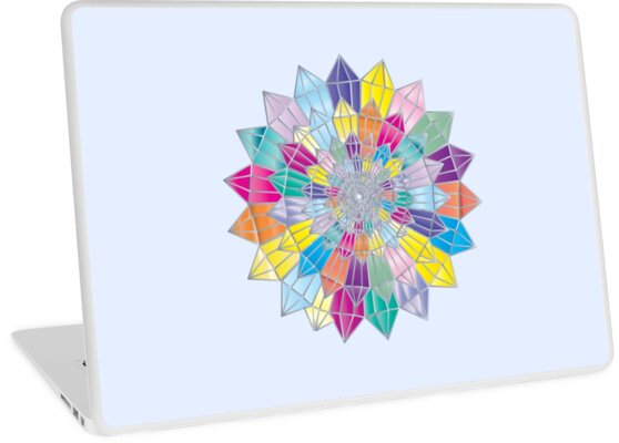 Colorful crystal mandala geometric pattern by Empaddon