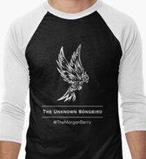 The Unknown Songbird - White logo Men's Baseball ¾ T-Shirt