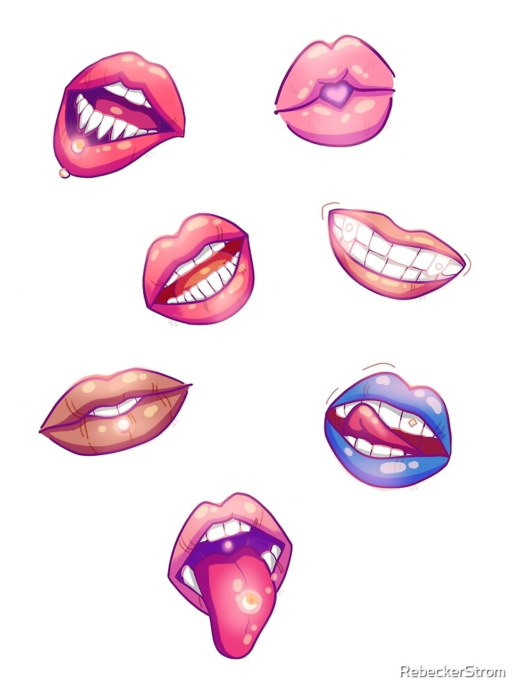 Don't Give Me Lip! Stickers (and Phone case!) by Rebecca Strom