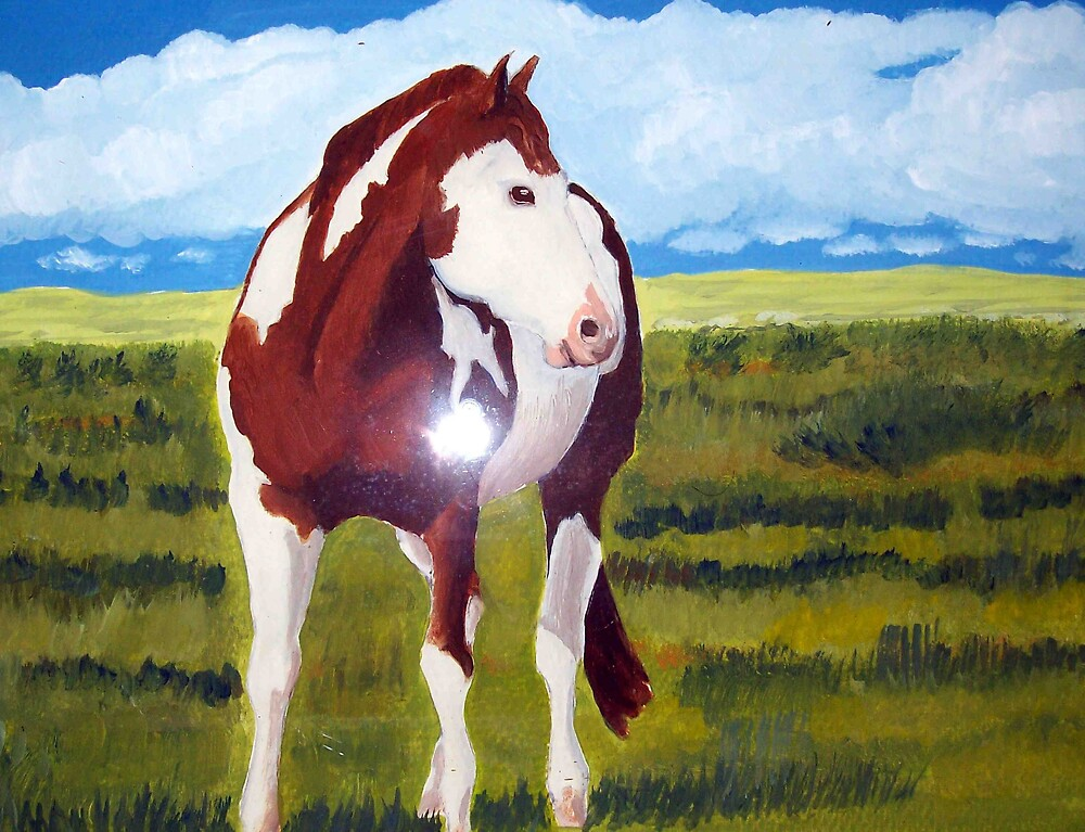 Nicademus Horse in landscape oil Painting by coolart