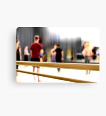 Behind the Barre Canvas Print