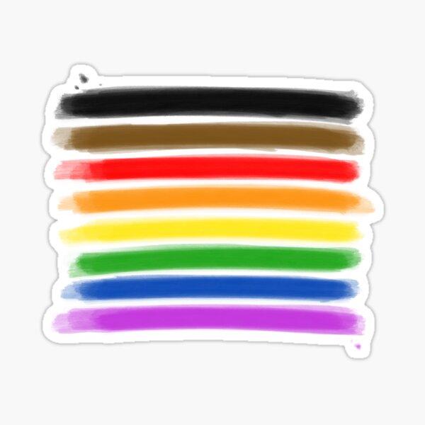 Pride Flag in Watercolor Sticker