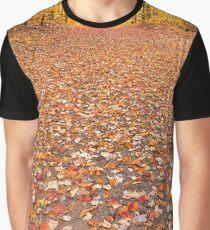 Golden Autumn Trail - Ricketts Glen Graphic T-Shirt