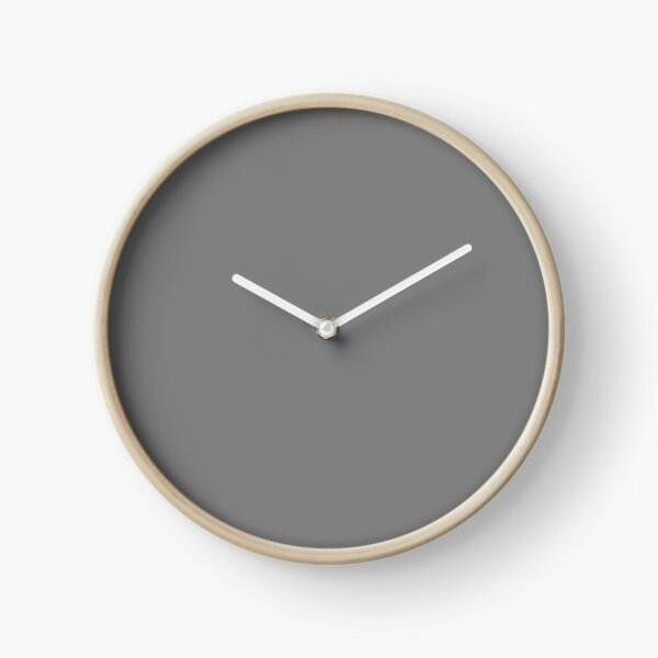 PLAIN SOLID GREY - PLAIN GREY - GRAY  - OVER 100 SHADES OF GREY AND SILVERS ON OZCUSHIONS Clock