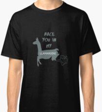Race You In My Llamargini - Llama Puns, Alpaca, Camelid, Animal Lover Classic T-Shirt