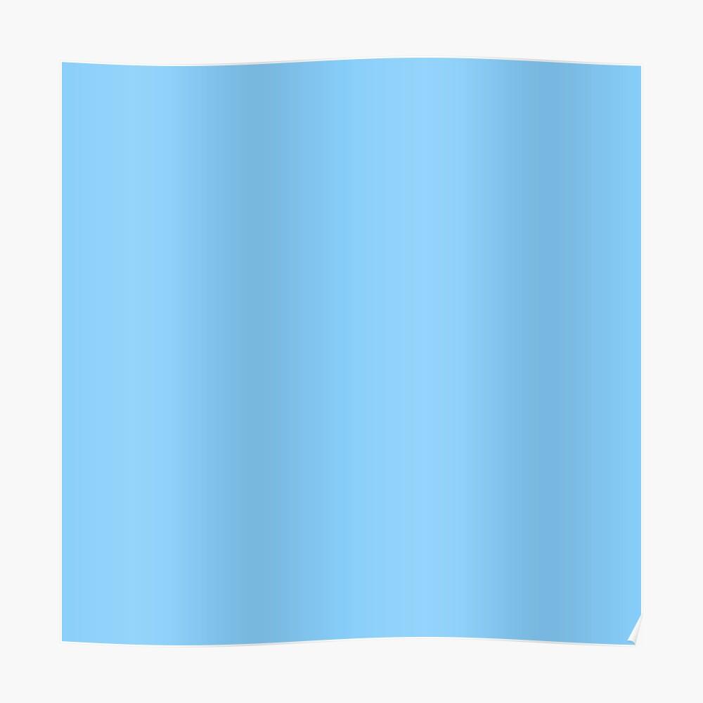 Solid Colour | Plain Light Sky Blue| Blue Poster